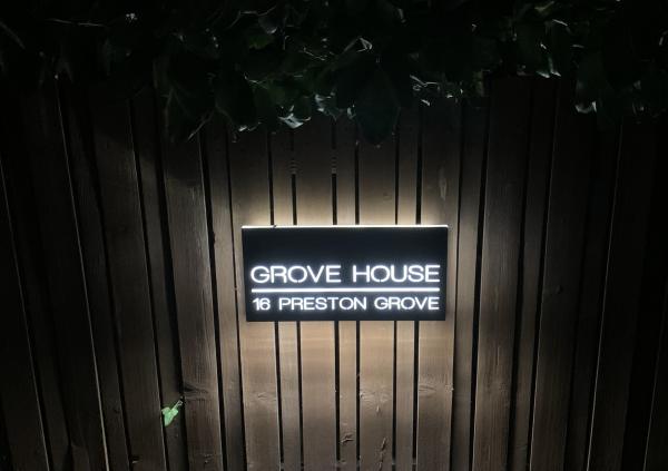 Illuminated house sign, Faversham, Kent