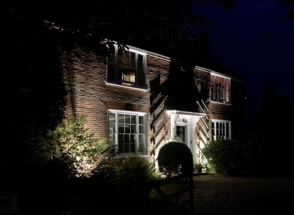 Exterior wall wash LED up lighting, Faversham, Kent