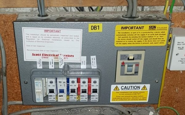 Old Fuse board, Replacement fuse board, Faversham, New consumer unit