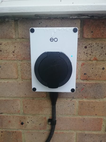 EO Mini Pro charge point.